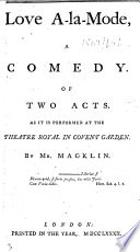 Love à-la-mode, a comedy, of two acts, etc
