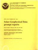 Solar geophysical Data