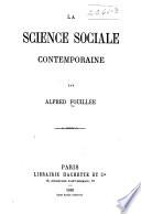 La science sociale contemporaine