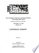First National Conference On Chronic Disease Prevention And Control