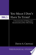 You Mean I Don T Have To Tithe