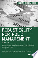 Robust Equity Portfolio Management