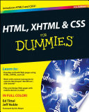 Html Xhtml Css For Dummies