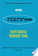 ECMT Round Tables Short distance Passenger Travel Report of the Ninety Sixth Round Table on Transport Economics Held in Paris on 10 11 June 1993