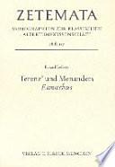 Terenz' und Menanders Eunuchus