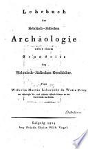 Lehrbuch der Hebräisch-Jüdischen Archäologie