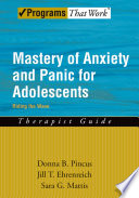 Mastery Of Anxiety And Panic For Adolescents Riding The Wave Therapist Guide