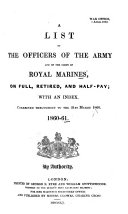 download ebook a list of all the officers of the army and royal marines ... pdf epub