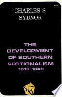 The Development of Southern Sectionalism