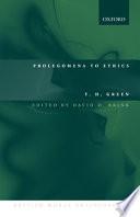 Ebook Prolegomena to Ethics Epub Thomas Hill Green,David Owen Brink Apps Read Mobile