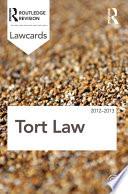 Tort Lawcards 2012 2013