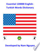 Essential 120000 English Turkish Words Dictionary