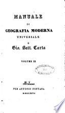 Manuale di geografia moderna universale di Gio. Batt. Carta