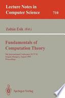 Fundamentals Of Computation Theory book