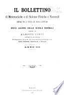 Il Bollettino di matematiche e di scienze fisiche e naturali