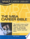 The Vault MBA Career Bible