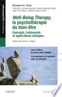 Well Being Therapy La Psychoth Rapie Du Bien Tre