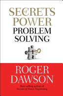Secrets Of Power Problem Solving : solve problems. problems knock us down like...