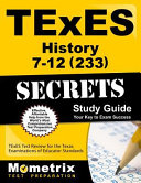 TExES History 7 12  233  Secrets Study Guide