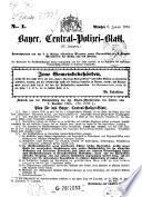 Bayer. Zentral-Polizei-Blatt