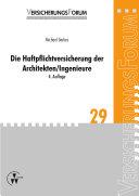 Die Haftpflichtversicherung der Architekten/Ingenieure