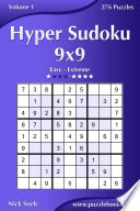 Hyper Sudoku 9x9   Easy to Extreme   Volume 1   276 Puzzles