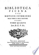 Biblioteca picena, o sia notizie istoriche delle opere e degli scrittori piceni ...: D-Ga