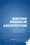 Writing Program Architecture book