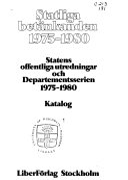 Statliga betänkanden 1975-1980