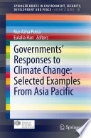 Governments    Responses to Climate Change  Selected Examples From Asia Pacific