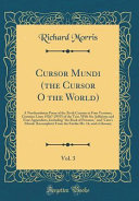 Cursor Mundi  the Cursor O the World   Vol  3