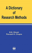 A Dictionary of Research Methods
