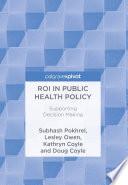 Roi In Public Health Policy