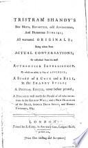 Tristram Shandy's Bon Mots, Repartees, Odd Adventures, and Humorous Stories
