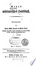 Neues militairisches Handbuch