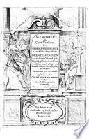 Memoryen Ofte Cort Verhael Der Gedenck Weerdichste So Kercklicke Als Werltlicke Gheschiedenissen Van Nederland Vranckrijck Hoogduytschland Groot Britannyen Van Den Jaere 1603 Tot In Het Jaer 1624