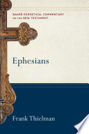 Ephesians  Baker Exegetical Commentary on the New Testament