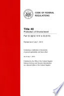 Title 40 Protection Of Environment Part 52 52 1019 To 52 2019 Revised As Of July 1 2013  book