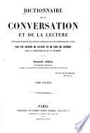 Dictionnaire de la conversation et de la lecture inventaire raisonn   des notions g  n  rales les plus indispensables    tous