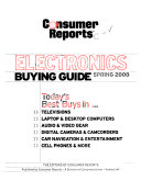 Consumer Reports Electronics Buying Guide