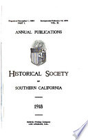 Annual Publications of the Historical Society of Southern California
