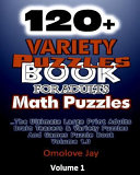 120  Variety Puzzle Book for Adults   Math Puzzles
