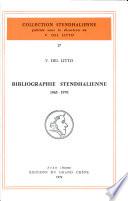 Bibliographie stendhalienne  1965 1970