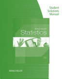 Student Solutions Manual for Statistics for Management and Economics, Ninth Edition