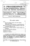 Proceedings of the International Association for Testing Materials ...