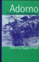 Adorno  Culture and Feminism