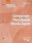 Elements Of Literature Grade 11 Language Handbook Worksheets