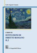 Corso di Istituzioni di diritto romano II 2