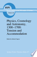 Physics  Cosmology and Astronomy  1300   1700  Tension and Accommodation