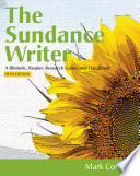 The Sundance Writer  A Rhetoric  Reader  Research Guide  and Handbook